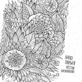 Hand drawn floral sketch background Stock Photos