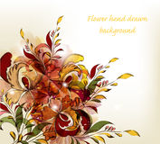 Hand drawn floral stylish background Stock Images