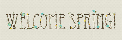Hand drawn floral text Royalty Free Stock Photos