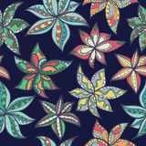 Hand-drawn floral texture, ethnic flowers. Stock Image