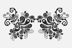 Hand drawn floral vintage ornament. A hand drawn floral vintage ornament Stock Photos