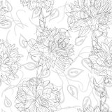 Hand drawn floral wallpaper Stock Image