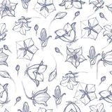 Hand drawn floral wallpaper. Could be used as seamless wallpaper Stock Photo