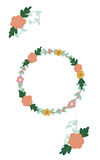 Floral wreath vector royalty free stock photography