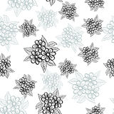Hand drawn floral zentangle on white background Stock Image