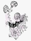 Hand-drawn flower Stock Images