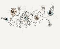 Hand-drawn Flower. Royalty Free Stock Images
