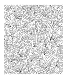 Hand drawn flower coloring page Royalty Free Stock Images