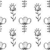 Hand Drawn flower doodle. Sketch style icon. Decoration element. Isolated on white background. Flat design. Vector illustration.  vector illustration