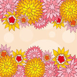 Hand-Drawn Flower Greeting Card. Stock Photos