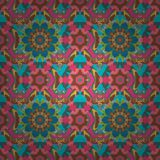 Abstract colored picture. Hand drawn flower seamless pattern tile. Colorful seamless pattern with cute flowers, paisley, pink, blue and brown background Stock Photography