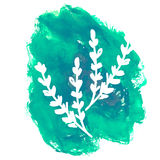 Hand drawn flower on watercolor background.  royalty free illustration