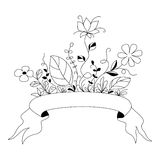 Hand drawn flowers 1 Royalty Free Stock Images