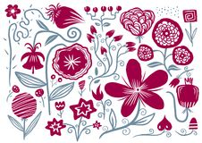 Hand drawn flowers Royalty Free Stock Photo