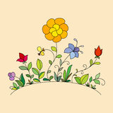 Hand drawn flowers 2 Royalty Free Stock Images