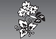 Hand drawn flowers 2 Stock Image