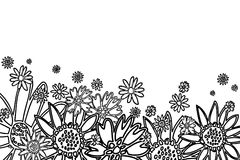 Hand drawn flowers. Fully scalable vector illustration royalty free illustration