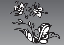 Hand drawn flowers 8 Royalty Free Stock Image