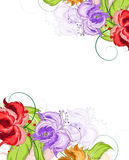 Hand drawn flowers background Stock Photography