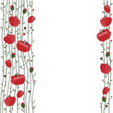 Hand drawn flowers background. Royalty Free Stock Photos