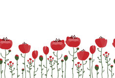 Hand drawn flowers background. Royalty Free Stock Photography