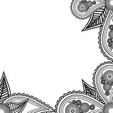 Hand drawn flowers banner. Handdrawn ornate for your card, resta Royalty Free Stock Photography