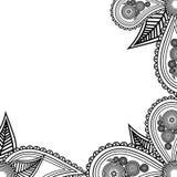 Hand drawn flowers banner. Handdrawn ornate for your card, resta. Urant menu vector illustration