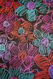 Hand drawn flowers in chalk Royalty Free Stock Photography