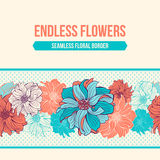 Hand-drawn flowers of dahlia Royalty Free Stock Photo