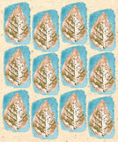 Hand drawn foliage texture pattern. Grunge background. Stock Photo