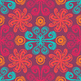 Indian floral pattern Stock Photos