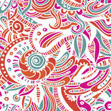 Hand drawn folkloric endless pattern Stock Images