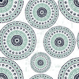 Hand drawn folkloric seamless pattern. All objects are conveniently grouped  and are easily editable Royalty Free Stock Image