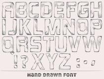 Hand drawn font Stock Image