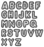 Hand drawn font. Hand drawn  abc, font, alphabet Stock Images