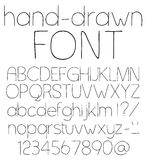 Hand drawn font. Stock Photo