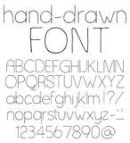 Hand drawn font. Stock Photo