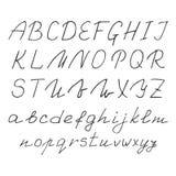 Hand-drawn font. English alphabet. vector illustration