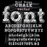 Hand drawn font chalk Royalty Free Stock Image
