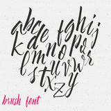 Hand drawn font handwriting brush Royalty Free Stock Image