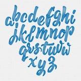 Hand drawn font handwriting brush Stock Images