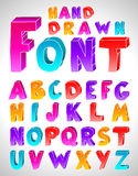 Hand drawn  font. Letters Stock Image