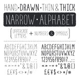 Hand drawn font Stock Photography