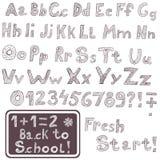 Hand drawn font Royalty Free Stock Photo
