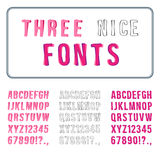 Hand Drawn Font Set. Stock Photos