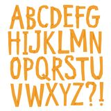 Hand drawn  font with shadows Stock Photo
