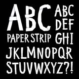 Hand drawn  font with shadows Stock Photography