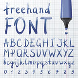 Hand drawn font Royalty Free Stock Photo