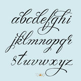 Hand drawn font Royalty Free Stock Images