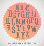 Hand drawn fonts Royalty Free Stock Images